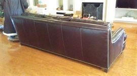 Back of Leather sofa