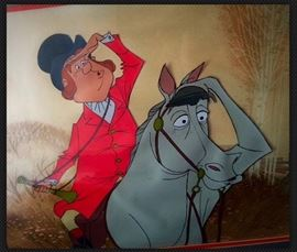 "Disney Original Production Animation Cel-MARY POPPINS ""Fox Hunter and Steed"""