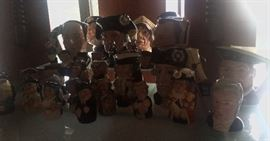 Large Assortment of Royal Doulton Toby Mugs and figurines