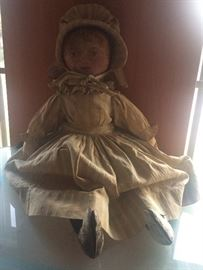 Leather Antique Colonial Doll