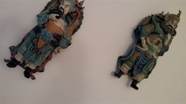 Oriental Clay wall  Sconce Figurines
