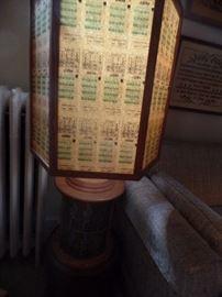 Lamp shade of CTA ticket stubs