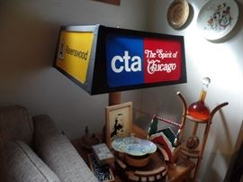 Lots of CTA memorabilia at this sale.  Mostly one of a kind items ( hand painted dish not available)