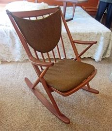 Rocker by Frank Reenskaug with two different color pads (Brown as shown and a beige color)