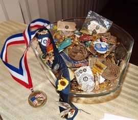 Huge collection (over 500) American Legion convention pins/badges