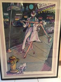 RJ HOHIMER 52ND ST ORIGINAL SIGNED ART