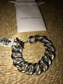DAVID YURMAN STERLING SILVER CURB LINK TOGGLE BRACELET  MSRP $1,159
