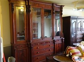 Ralph Lauren Cabinet. 2 Piece deck and base. Has keys for locks   Original purchase $13,000.   Will pre-sell Dec 7-9 call for price and appointment                 817-507-7757