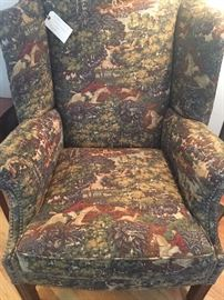 Wingback chair with Ralph Lauren fabric