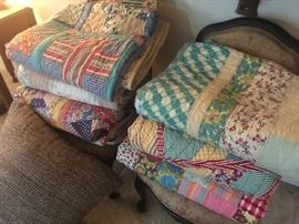 Nice homemade quilts