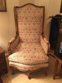 Rare high back 5 legged ladies chair