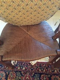 seat of dining chair..all 4 are in excellent condition