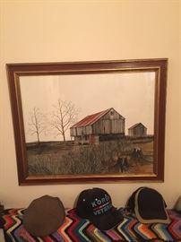 "Herbert Weintraub ""The Barn"" Watercolor Painting  Original"
