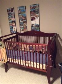 Baby crib and bedding