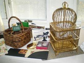 Large Brass Birdcage