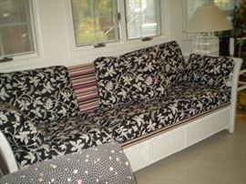 Wicker Sofa. It's A SLEEPER Sofa.