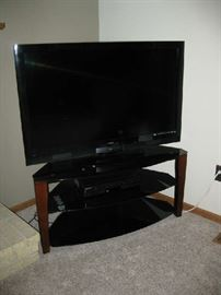 "flat screen TV and stand 50"" Vizio"