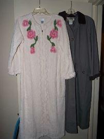 Darling Channel housecoat & LL Bean raincoat