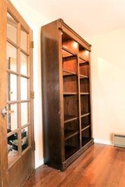 illuminated bookshelf