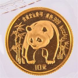 Lot 9 - Coin 1986 10 Yuan China Panda Gold Coin