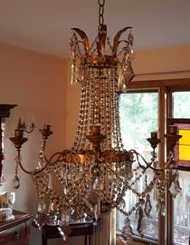Antique French Candlestick Chandelier
