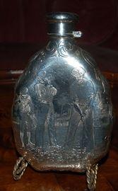 Tiffany Sterling Silver Golf Flask 1903