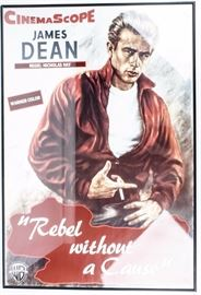 Lot 319 - James Dean Movie Poster Rebel Without A Cause