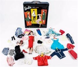 Lot 349 - Vintage 1958 Mattel Barbie Doll w/ Vinyl Case