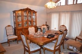 dining room set with china hutch
