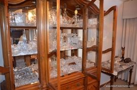 lots of glass ware including waterford