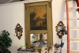 Oil painting and mirror