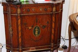 INlaid fugural cabinet