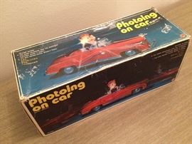 Photoing on car 50's 60's mid century toys! House packed! Pristine condition!