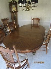 Dining Table and Chairs (Grandfather Clock not for sale)