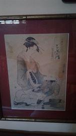 Utamaro wood cut
