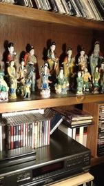 Just a few of the Asian figurines at this sale