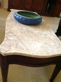 Midcentury marble coffee table  made in Portugal