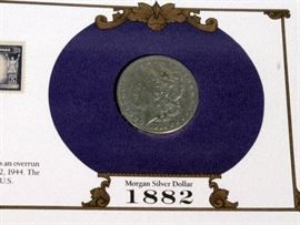 The U.S. Silver Dollar Collection Morgan Silver Dollars, Qty 25, 1878-1891, 1899-1901, 1921-1926, and 1934-1935, Postal Commemorative Society