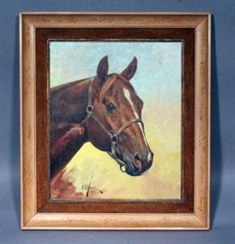 """Orren Mixer (1920-2008, American) Original Oil on Canvas """"Power Command"""", Framed and Matted, 20.5"""" x 23.5"""""""