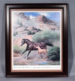 "Orren Mixer (1920-2008, American) SIGNED ""Escape"" Print, Framed, 23.5"" x 27.5"""