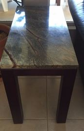 Custom Made Cherry Wood and Real Marble Tables