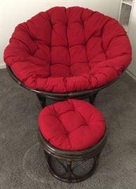 Papasan Chair and Ottoman