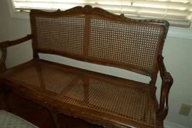love this cute cane bench