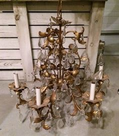 Several Vintage Chandeliers and light fixtures