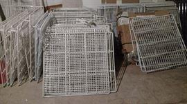 Commercial refrigeration shelving