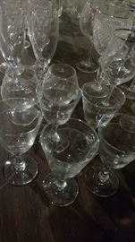 Broad selection of glasses in sets and singles