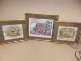 Framed Signed Historical Prints