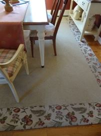 Ethan Allen Rug - Berber Rug with Fruit Trim - 8' X 9'