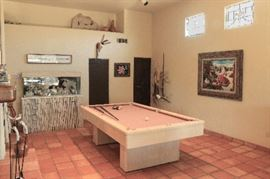 Pool table, fish tank, misc