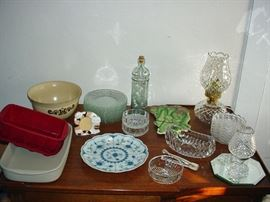Crystal Dishes n Misc Kitchenware